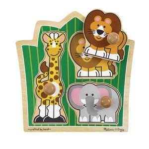 Jumbo Knob Puzzles - Jungle Friends