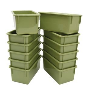 Value Line Cubby Trays, Set of 12 - Sage Green