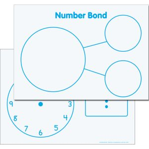 Time And Number Bonds Magnetic Dry Erase Mats™ - 3 mats