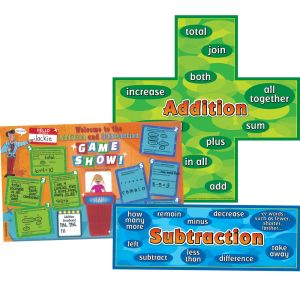 Addition-Subtraction Words Posters And Activity Mats - 2 posters, 24 activity mats
