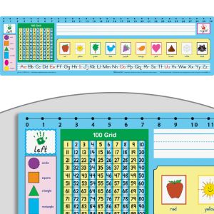 Zaner-Bloser 100 Grid With Number Line Deluxe Plastic Desktop Helpers™ - 24 helpers