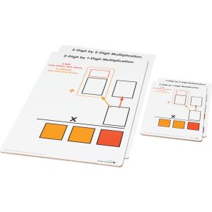 Beginning 2-Digit Multiplication Dry Erase Boards - Teacher And Students Kit - 7 boards