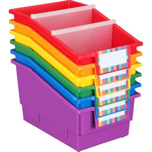 Group Colors for 6 - Chapter Book Bins - 6 bins