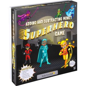 Adding And Subtracting Money Superhero Game - 2 games