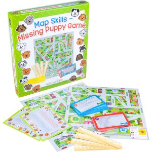 Map Skills - Missing Puppy Game - 1 board game