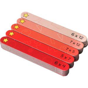 Multiplication Facts Practice - Mental Math Sticks™ - 5 puzzles