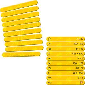 Mixed Operations - Mental Math Sticks™ - 5 puzzles