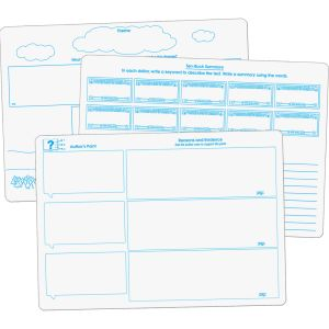 Comprehension Graphic Organizer Dry Erase Boards Text Evidence Set