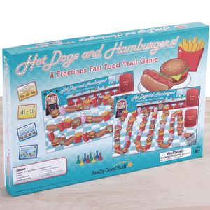 Hot Dogs And Hamburgers! A Fractions Fast Food Trail Game - 1 game