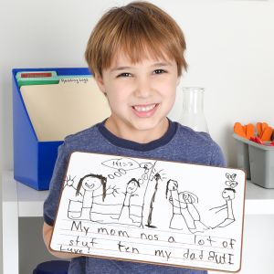 Write Again® Two-Sided Non-Magnetic Draw And Write Dry Erase Boards