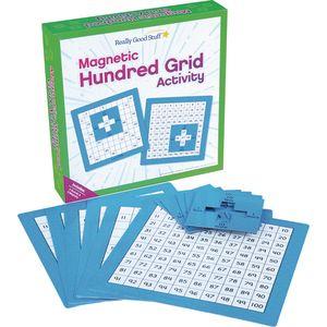 Magnetic Hundred Grid Activity - Set Of 6