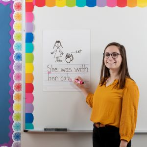 Jumbo Dry Erase Magnetic Draw and Write Page - 1 sheet