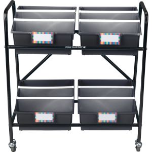 Mid-Size Mobile Storage Rack With Picture Book Bins™ - 1 rack, 4 bins