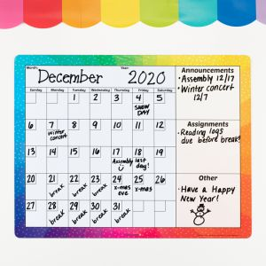 Magnetic Dry Erase Calendar - 1 calendar
