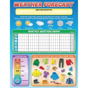 Jumbo Magnetic Chart - Weather Forecast - 1 chart