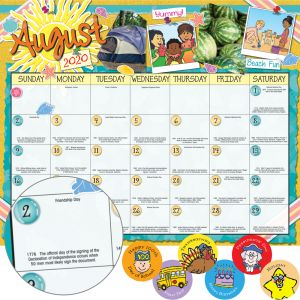 Monthly Calendar Pages And Stickers 2020-2021 Intermediate - 12 calendar pages, 120 stickers