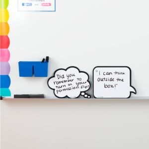 Shaped Dry Erase Boards - Speech And Thought Bubbles - 2 dry erase boards