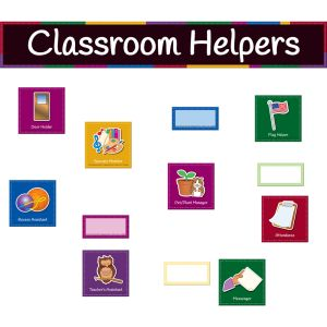 Classroom Helpers Pocket Chart Cards - 69 cards