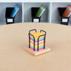 Wire and Wood Sticky Note Holder