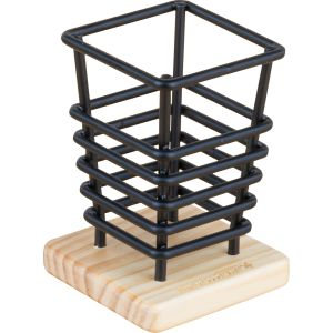 Wire and Wood Pencil Holder