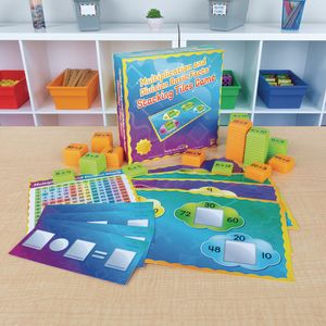Multiplication And Division Basic Facts Stacking Tiles Game - 1 game