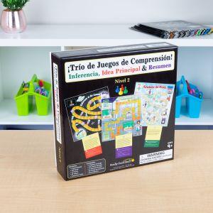 Spanish Comprehension Game Trio: Inference, Main Idea and Summary (Tro De Juegos De Comprensin! Inferencia, Idea Principal y Resumen) - 3 games
