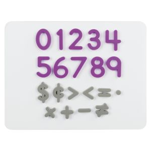 Plastic Magnetic Numbers And Math Symbols - 80 magnets