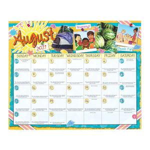 Monthly Calendar Pages and Stickers 2021-2022 Intermediate