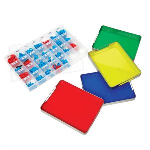 MAGtivity Tins With Foam Color-Coded Magnetic Letters Classroom Kit
