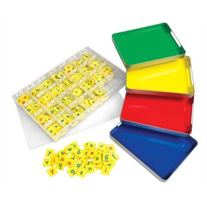MAGtivity Tins With Soft Touch Magnetic Foam Letter Tiles Classroom Kit