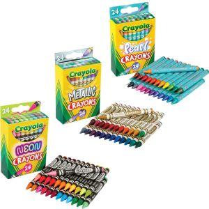 Crayola Neon, Metallic and Pearl Crayons
