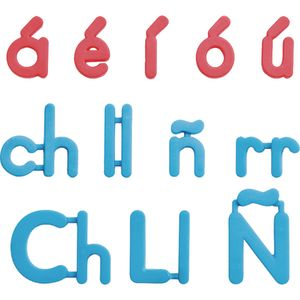 Spanish Plastic Magnetic Letters - 12 magnetic letters