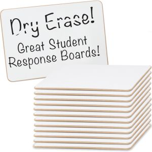 """Mini Non-Magnetic 6"""" By 9"""" One-Sided Dry Erase Boards - Set Of 12"""