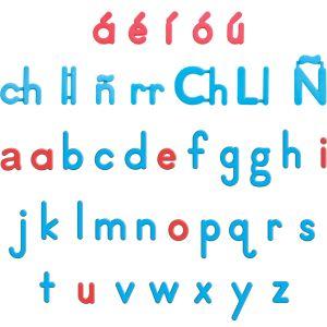EZread™ Spanish Color-Coded Plastic Magnetic Letters - 92 letters