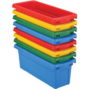 Small Sturdy Tubs, 4 Colors - 8 tubs