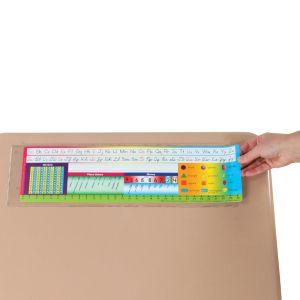 """Desktop Helper™ 18"""" Self Adhesive Vinyl Sleeves - 12 sleeves"""