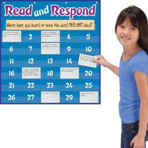 Read And Respond Pocket Chart™ - 1 pocket chart