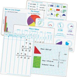 Math Dry Erase Board Kit - 36 dry erase boards
