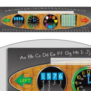 Zaner-Bloser Dashboard Self-Adhesive Vinyl Desktop Helpers™ With 120 Grid - 24 helpers