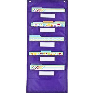 File Folder Storage: Purple Pocket Chart - 1 pocket chart