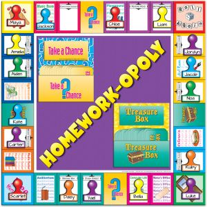 Homework-opoly Poster and Magnet Kit - Display Board and Magnets