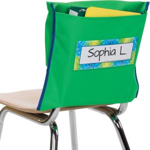 Store More® Deep-Pocket Chair Pockets - 36 Pack - Green/ Blue