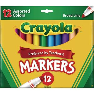 Crayola® 12 ct. Assorted Colors Broad Line Markers - 2 Boxes