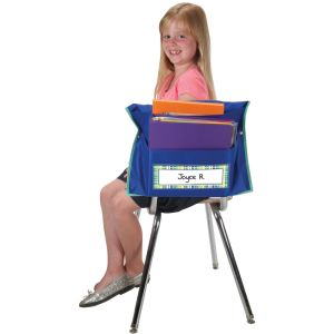 Store More® Dual Storage Deep-Pocket Chair Pockets - 6 Pack - Blue/ Mint