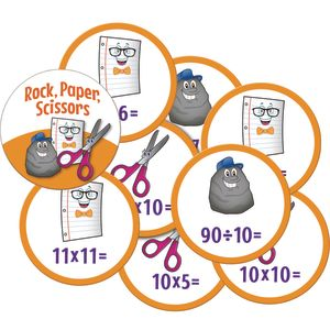 Rock, Paper, Scissors Math Game - Multiplication And Division - 1 game