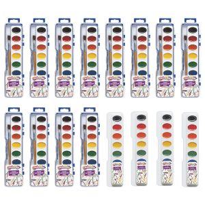 Colorations® 12 Watercolor Paint Palettes with BONUS 4 refills