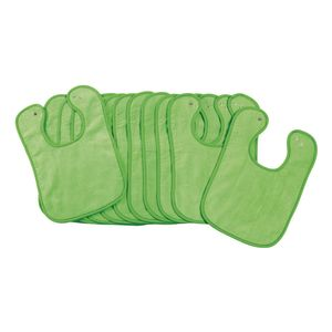 Environments® Dozen Green Bibs with Snaps