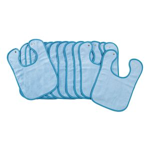 Environments® Dozen Blue Bibs with Snaps
