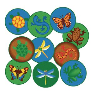 "Environments® Set of 10 Fun Animal 16"" Rounds"