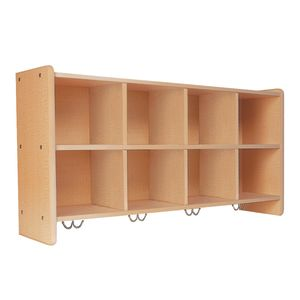 Eight-Cubbie Wall Unit, Maple Laminate